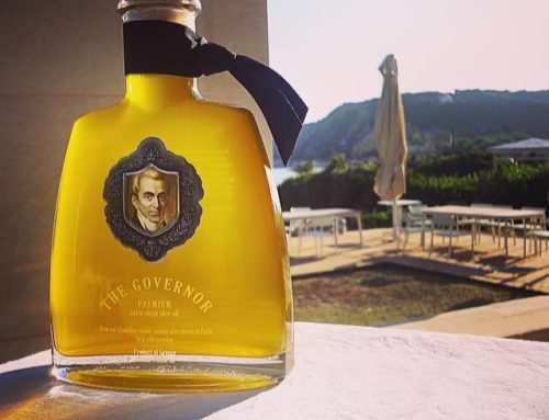 What is the relation between a famous English Novelist with Governor Olive oil?